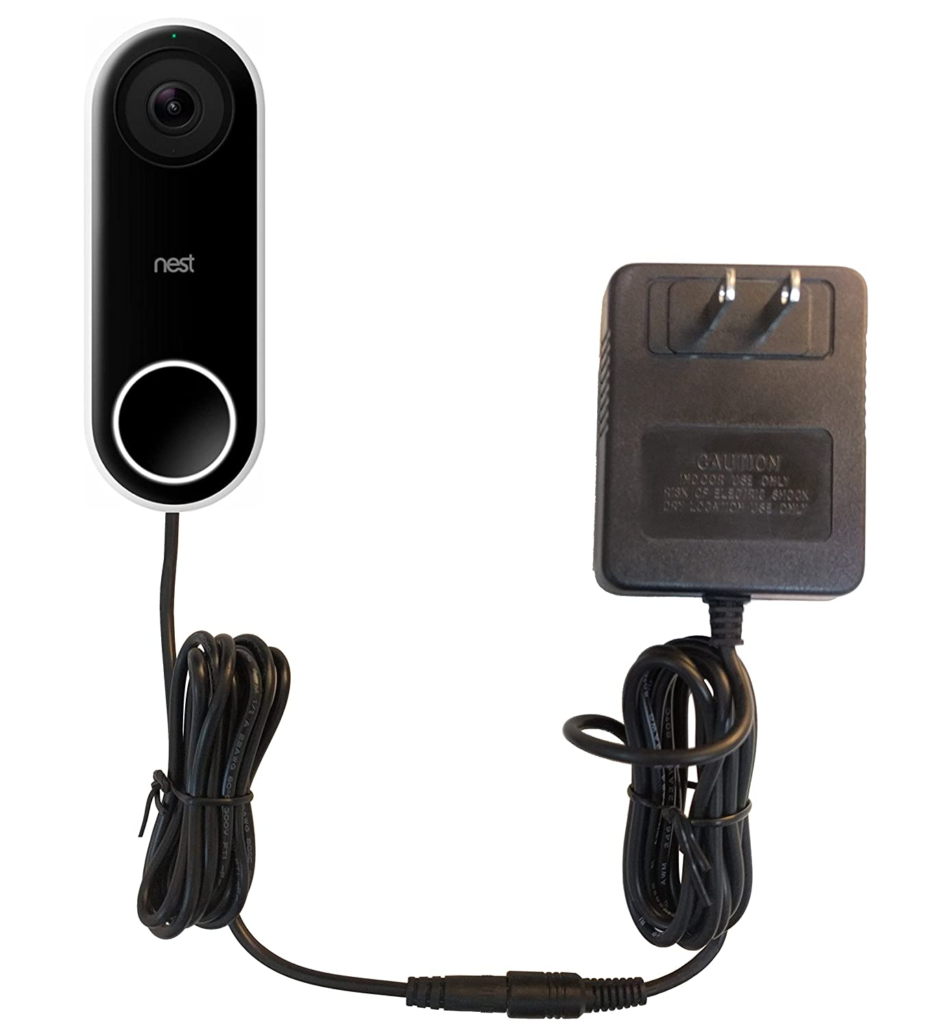Ohmkat Video Doorbell Power Supply Compatible With Nest Hello No Wiring Up Existing Required Transformer Adapter Kit All In One Black