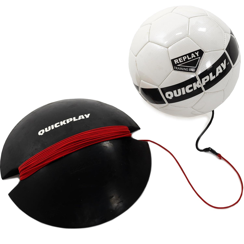 クイックプレイReplayサッカートレーニングボール ゴムBungee調節可能トレーニングボールwith Base重量 – 究極の手無料サッカートレーナー B01BTEPVFO