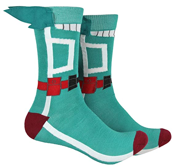 5feb1f967 Image Unavailable. Image not available for. Color: My Hero Academia Socks  Crew Costume ...
