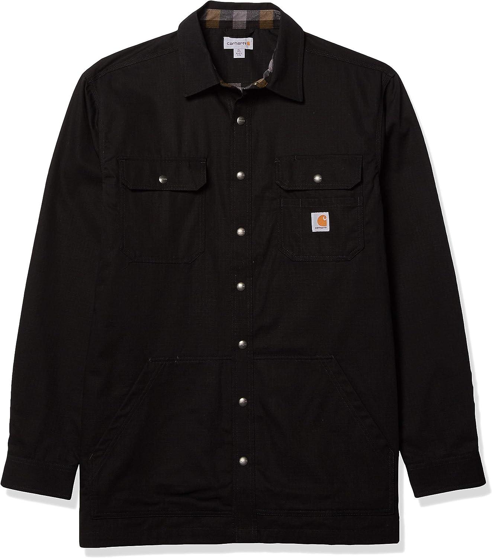 Carhartt Loose Fit Ripstop Flannel-lined Snap-front Shirt Jacket Chaqueta con forro de franela, holgada, de ripstop, con botones Hombre