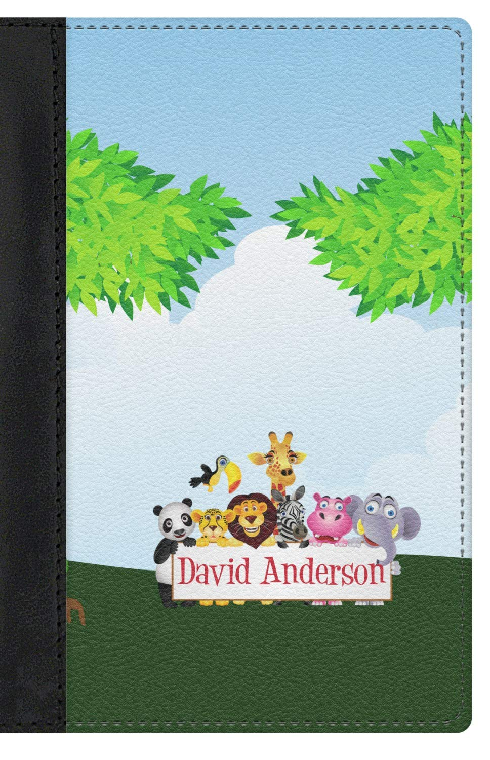 Personalized Animals Genuine Leather Passport Cover