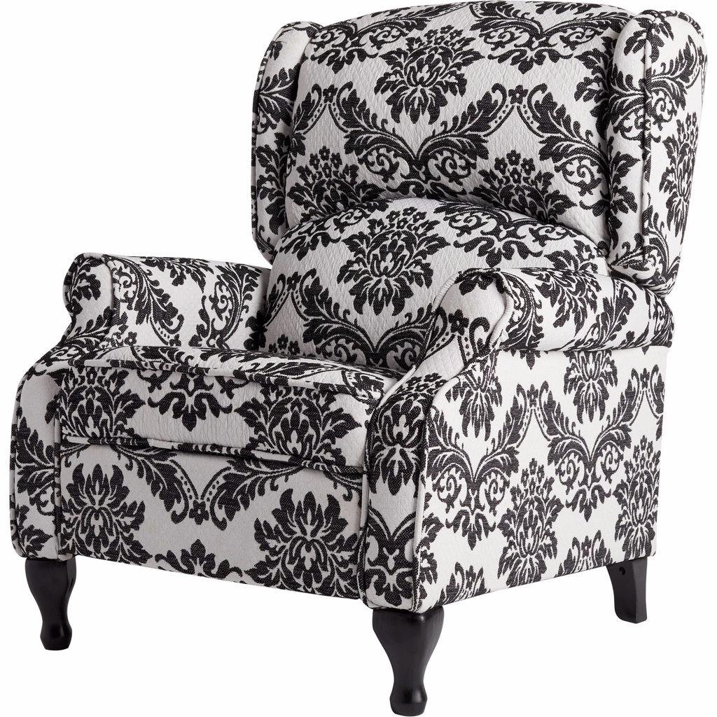 Amazon.com Off-White Foam Recliner Chair and Black Floral Print Wing Back Armchair Includes Custom Mouse Pad Kitchen u0026 Dining  sc 1 st  Amazon.com & Amazon.com: Off-White Foam Recliner Chair and Black Floral Print ... islam-shia.org