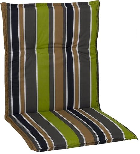 Almohada Cojines para sillas de jardín respaldo bajo de rayas gris ...