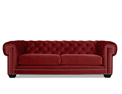 Amazon.com: South Cone Home William Velvet Tufted Sofa, 90 ...