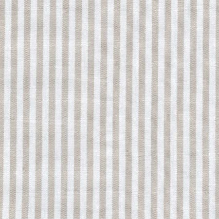 Tela beige y blanco - raya marina - 100% algodón suave   ancho ...