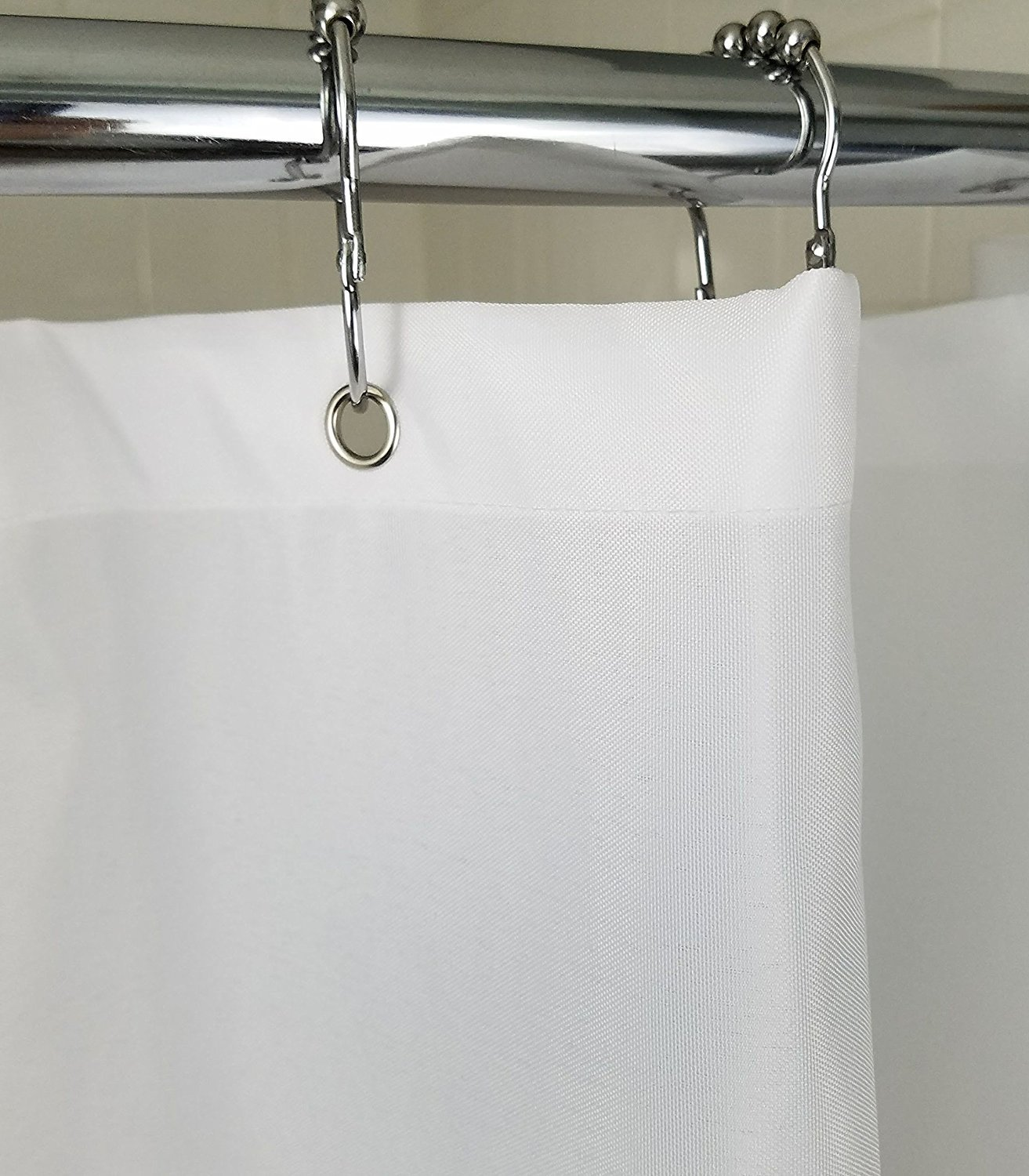 Nylon Waterproof - Soft as Silk - Mildew Resistant Fabric Shower Curtain Liner, 70 Inch x 108 Inch Extra Long - Ivory Home Bargains COMIN16JU017314