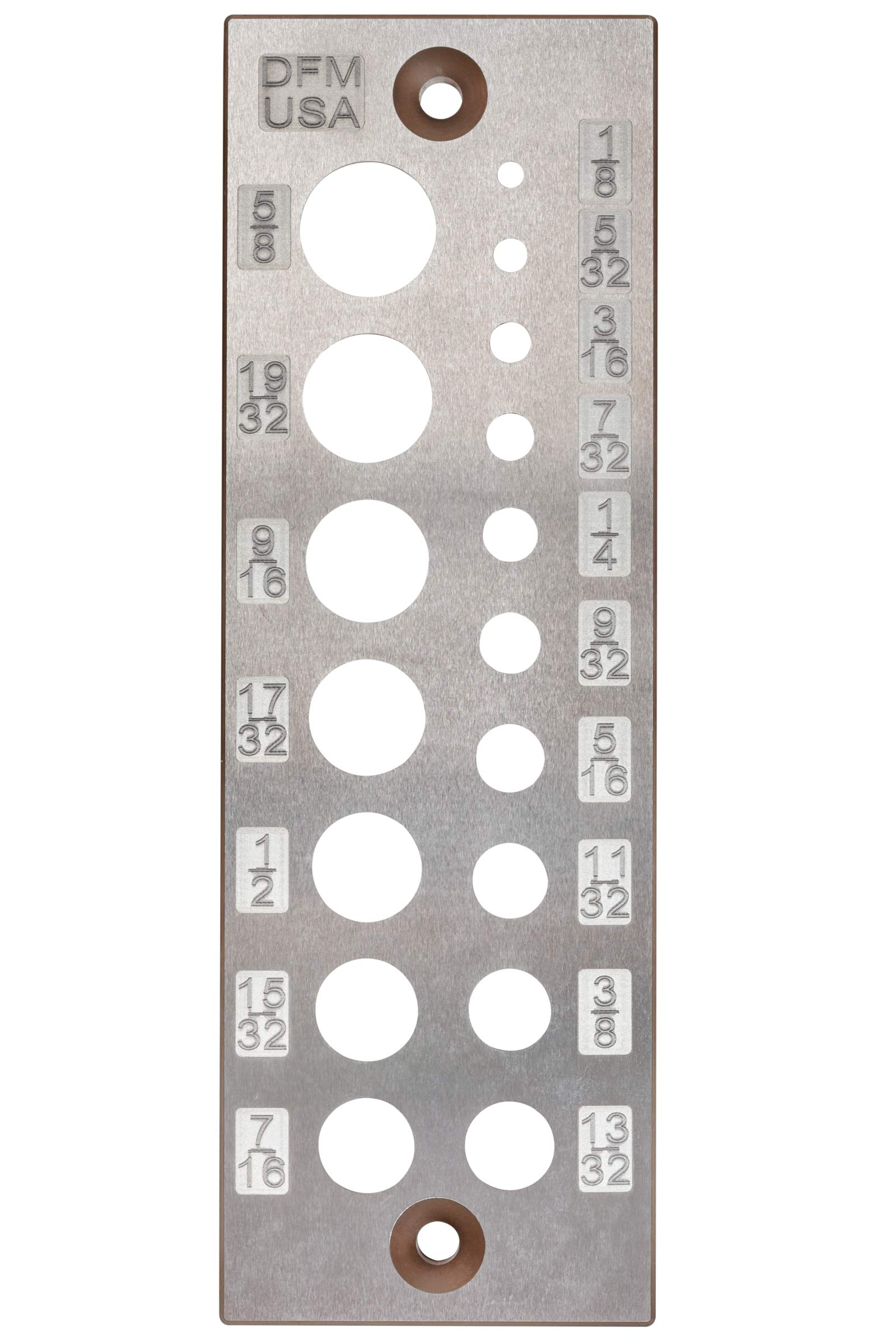 DFM A2 Steel Dowel Plate 17 Holes MADE IN USA (English 17 Holes)