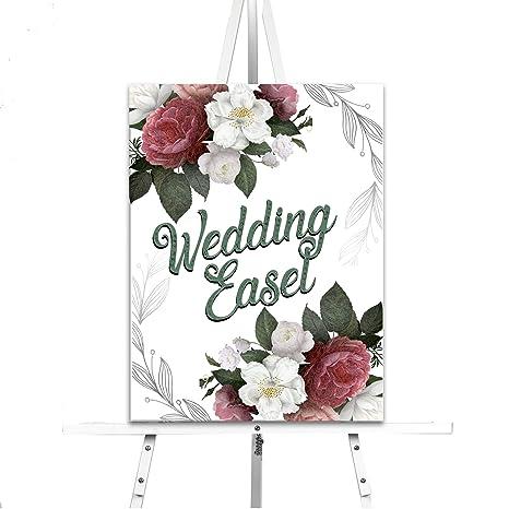 Amazon.com: Lucia y Luciana Caballete de boda blanco para ...