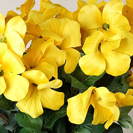Amazon balsacircle 72 yellow silk primrose flowers 4 bushes balsacircle 72 yellow silk primrose flowers 4 bushes artificial flowers wedding party centerpieces arrangements mightylinksfo