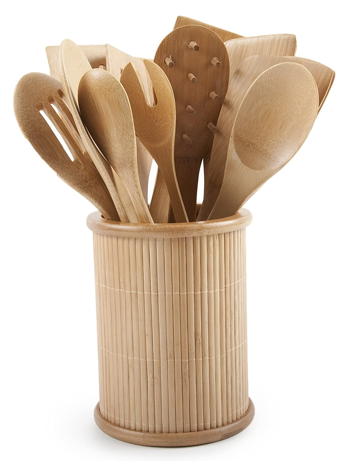 Exceptional Amazon.com: Core Bamboo Classic 14 Piece Kitchen Utensil Set, Natural:  Kitchen Tool Sets: Kitchen U0026 Dining