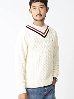 Beams x Fred Perry Cricket Sweater 11-15-0854-060: Off