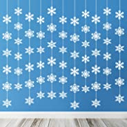 TUPARKA 12PCS Snowflake Hanging Decorations Frozen Birthday Party Supplies Winter Wonderland Party Decorations White Christma