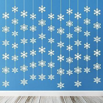 TUPARKA 12 Piezas Decoraciones navideñas de Copos de Nieve ...