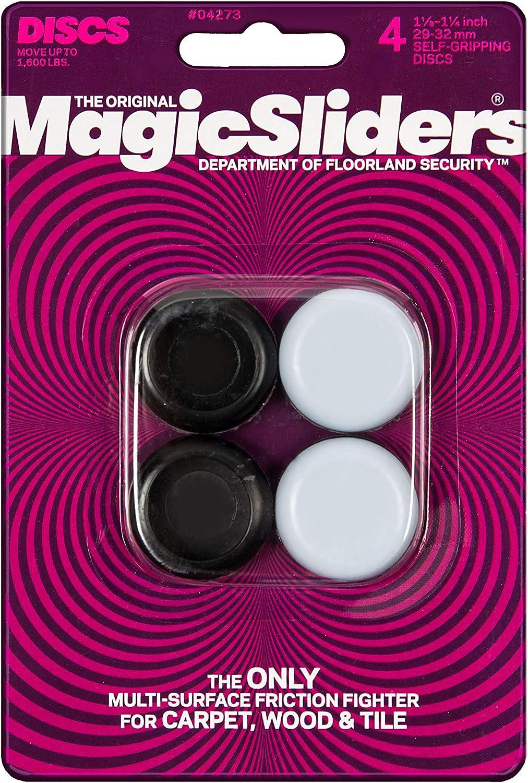 "MAGIC SLIDERS L P 4273 4 Pack 1-1/4"" RND Slider"
