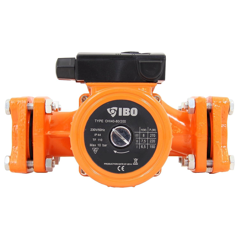 Pompe de recirculation pompe de chauffage Ibo 40– 80/200 Pompe eau chaude Chauffage Circulateur neuf ei-on
