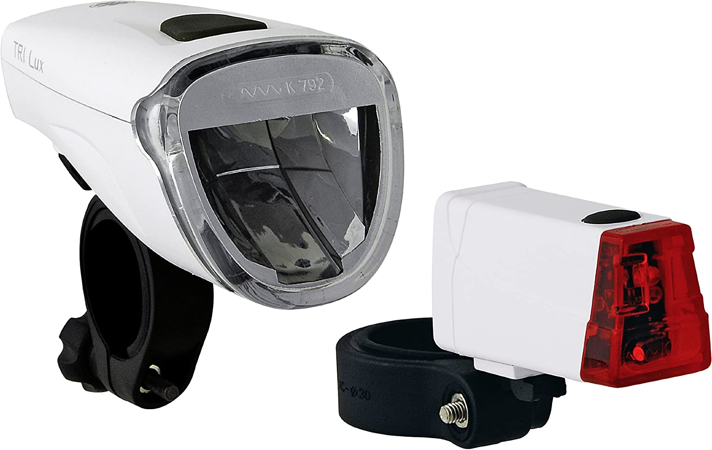 B/üchel Batterielampenset Frontlampe Triolux R/ücklicht Mini LED 51125475 40 Lux