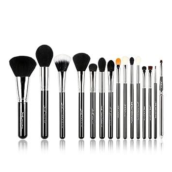 Jessup® - Juego de brochas de maquillaje, 15 piezas, brochas de maquillaje, maquillaje de base, base de polvo, sombra de ojos, delineador de ojos, ...