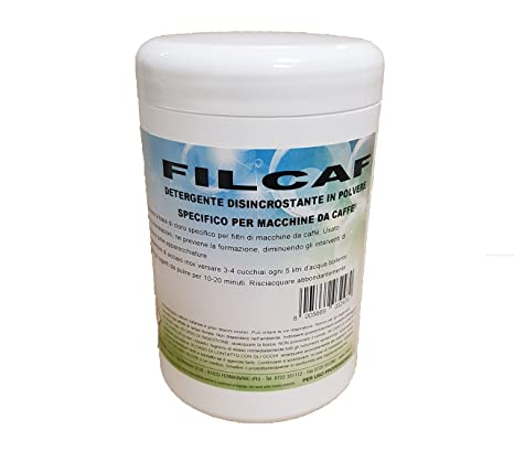 Limpiador Desincrustante de polvo coche para filtros máquinas de café – filcaf – 1 kg –
