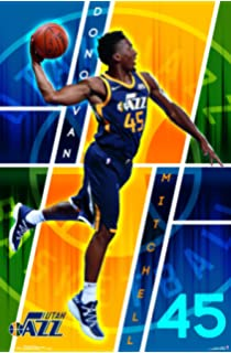 Trends International POD16622 Utah Jazz - Donovan Mitchell Wall Poster, 22.375