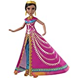 DISNEY Aladdin - Glamorous Jasmine Deluxe Fashion Doll with Gown, Shoes & Acc, inspired by Disney's Live-Action Movie - Kids Toys - Ages 3+