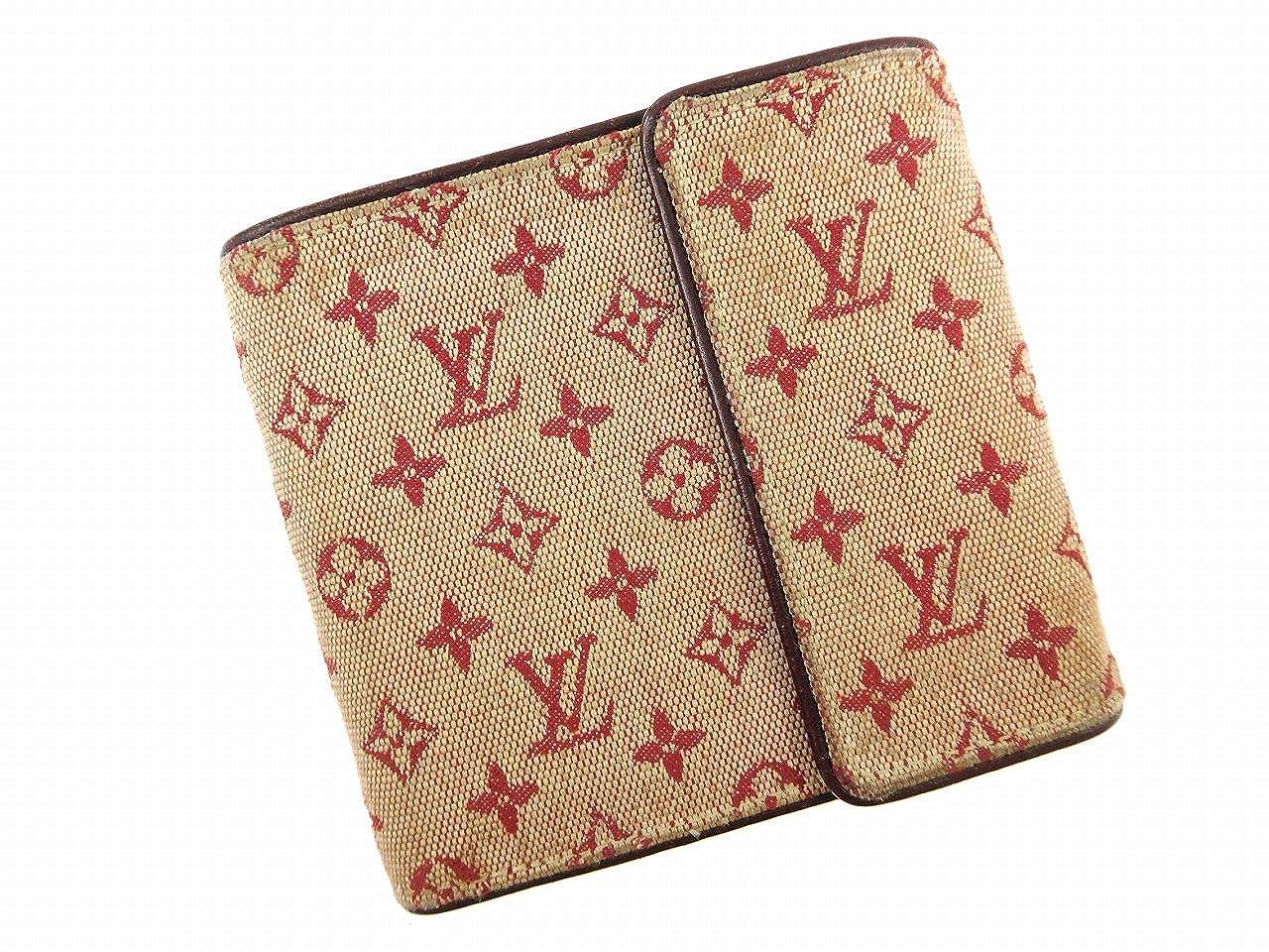 [ルイヴィトン] LOUIS VUITTON 二つ折り財布 モノグラムミニ M92241 キャンバス×レザー X14814 中古   B06Y468VL2