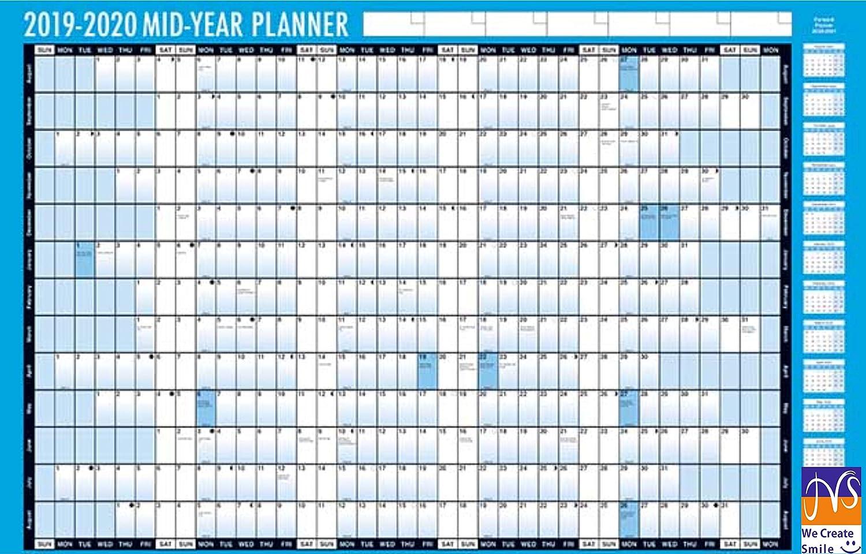 JMS® 2019-2020 - Planificador de pared (tamaño A2, tamaño A2 ...