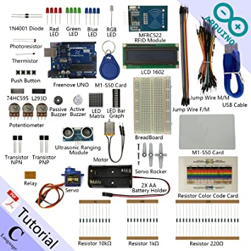 Freenove RFID Starter Kit for Arduino | Beginner Learning | UNO R3 MEGA  NANO MICRO | 30 Projects, 165 Pages Detailed Tutorial