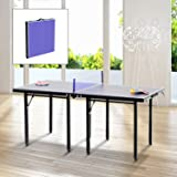 Mesa Ping Pong Plegable 153x76.5x67cm + Red Tenis Mesa Exterior Portatil NUEVO