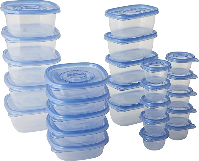 Glad Lunch Variety Pack Food Storage Containers, Clear, 25 Count