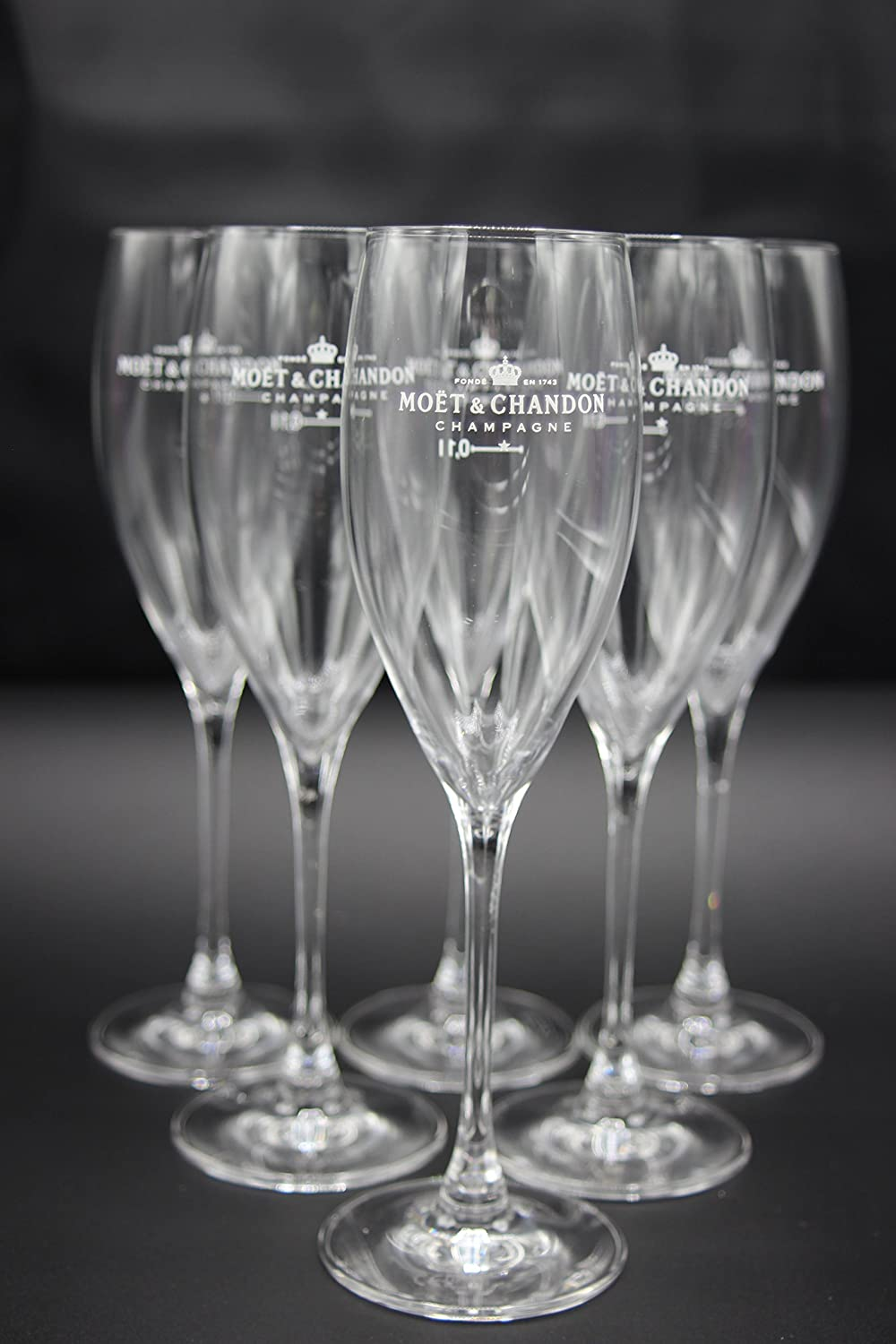 6 Moët & Chandon Champagne, Set of 6 Mohab