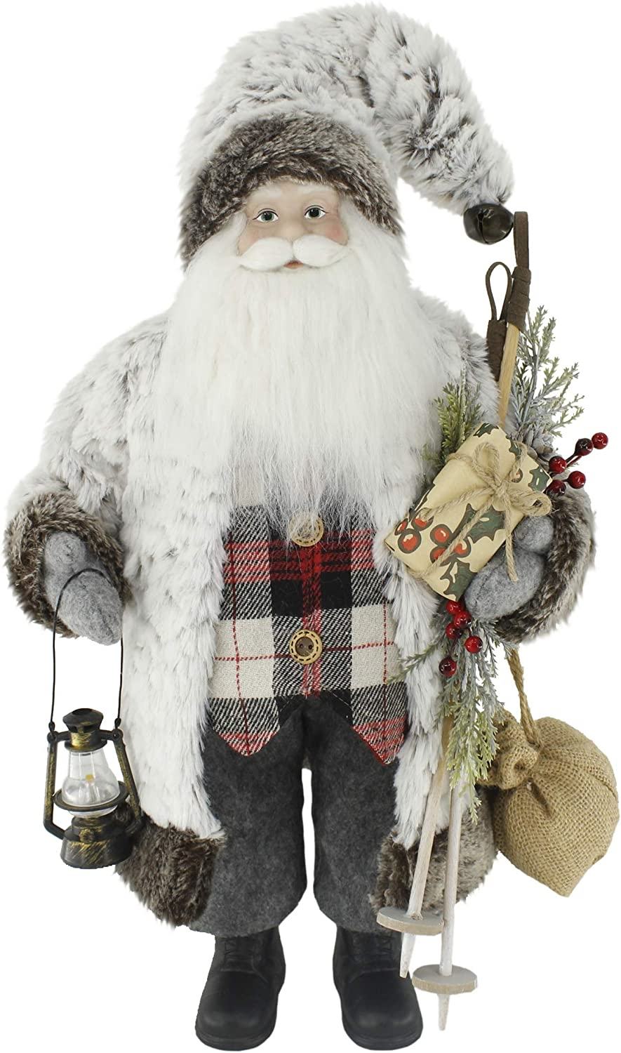 Windy Hill Collection Soft & Furry Plaid Woodland 18