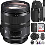 Sigma 24-70mm f/2.8 DG OS HSM Art Lens for Canon EF w/Sigma USB Dock & Advanced Photo and Travel Bundle