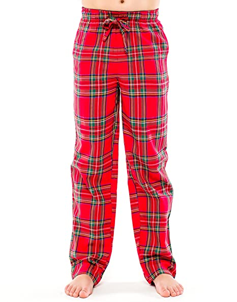 e969b81e3c TINFL Boys Plaid Check Soft 100% Cotton Lounge Pants BP-61-Hotred-