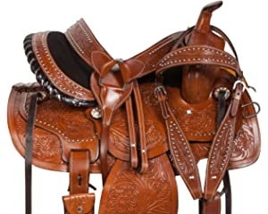 Amazon.com : Silla DE MONTAR Caballo Western Saddle 14 15 16 ...