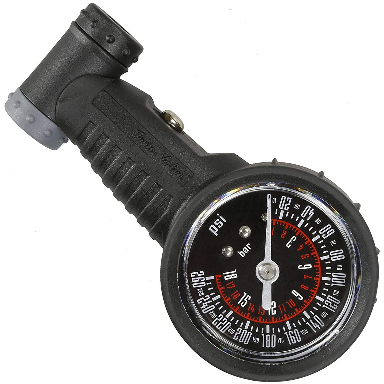 Venzo Bicycle Accurate Air Tire Pressure Gauge Optional High or Low Pressure Presta Schrader PSI or Bar Single or Dual Face Great for Bike Car Truck Motorcycle /& Suspension Shock
