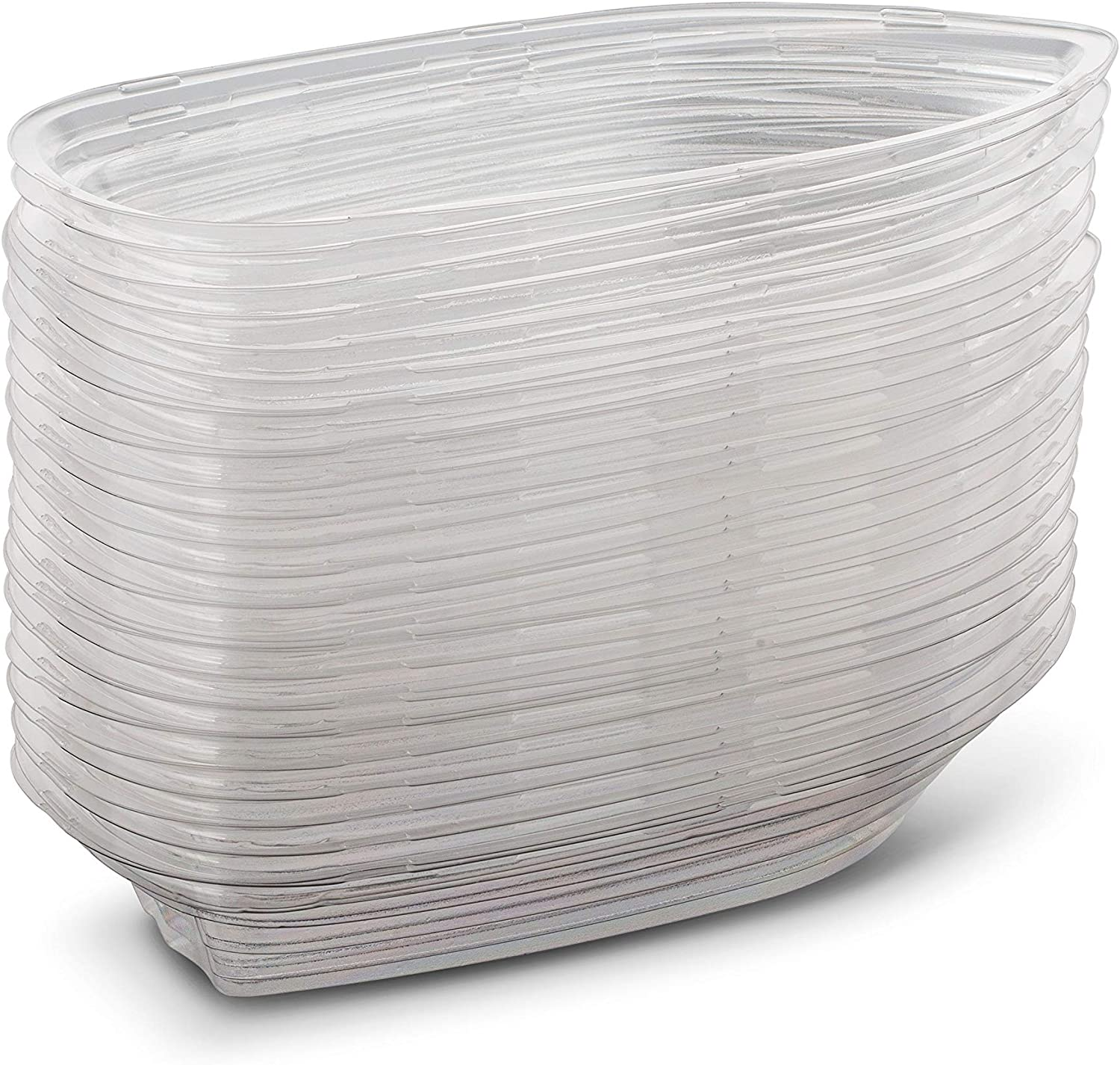 Perfect Size Made from Durable OPS Plastic Great Party Dish 60 Pieces Clear Plastic Disposable Banana Split Boats MT Products 8 oz