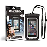 "SEAWAG Universal Waterproof Case for Smartphone 5.7"" (Black/White)"