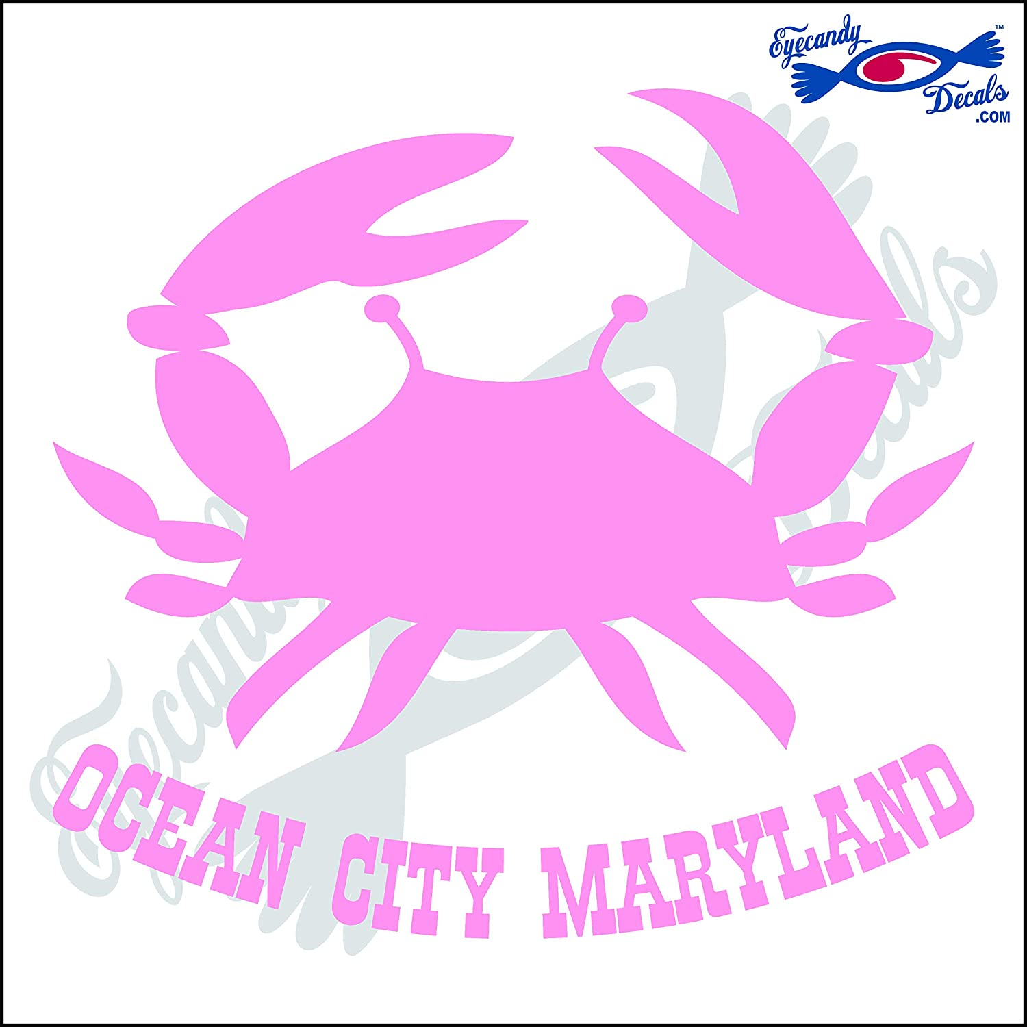 Pink Maryland Crab Decals