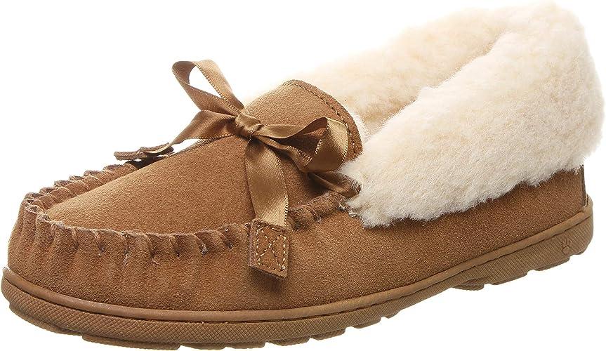 2165w Pewter Distressed Bearpaw Indio Women/'s Fluffy Slipper 8