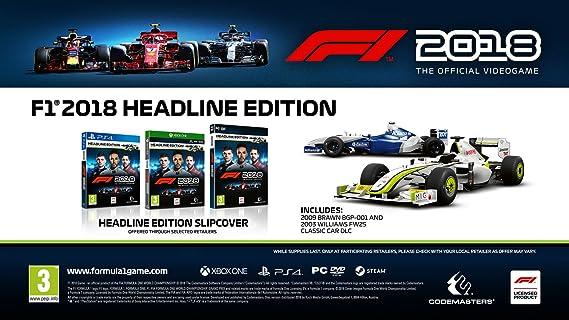 F1 2018 Headline Edition - Xbox One [Importación inglesa]: Amazon.es: Videojuegos