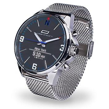 OSKRON M017 Gear Reloj de Pulsera para Hombre con Funciones de Reloj Inteligente, metálico, Talla única: Amazon.es: Deportes y aire libre