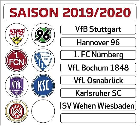 Dfl Deutsche Fussball Liga 2 Bundesliga Magnettabelle Update Set Saison 2019 2020