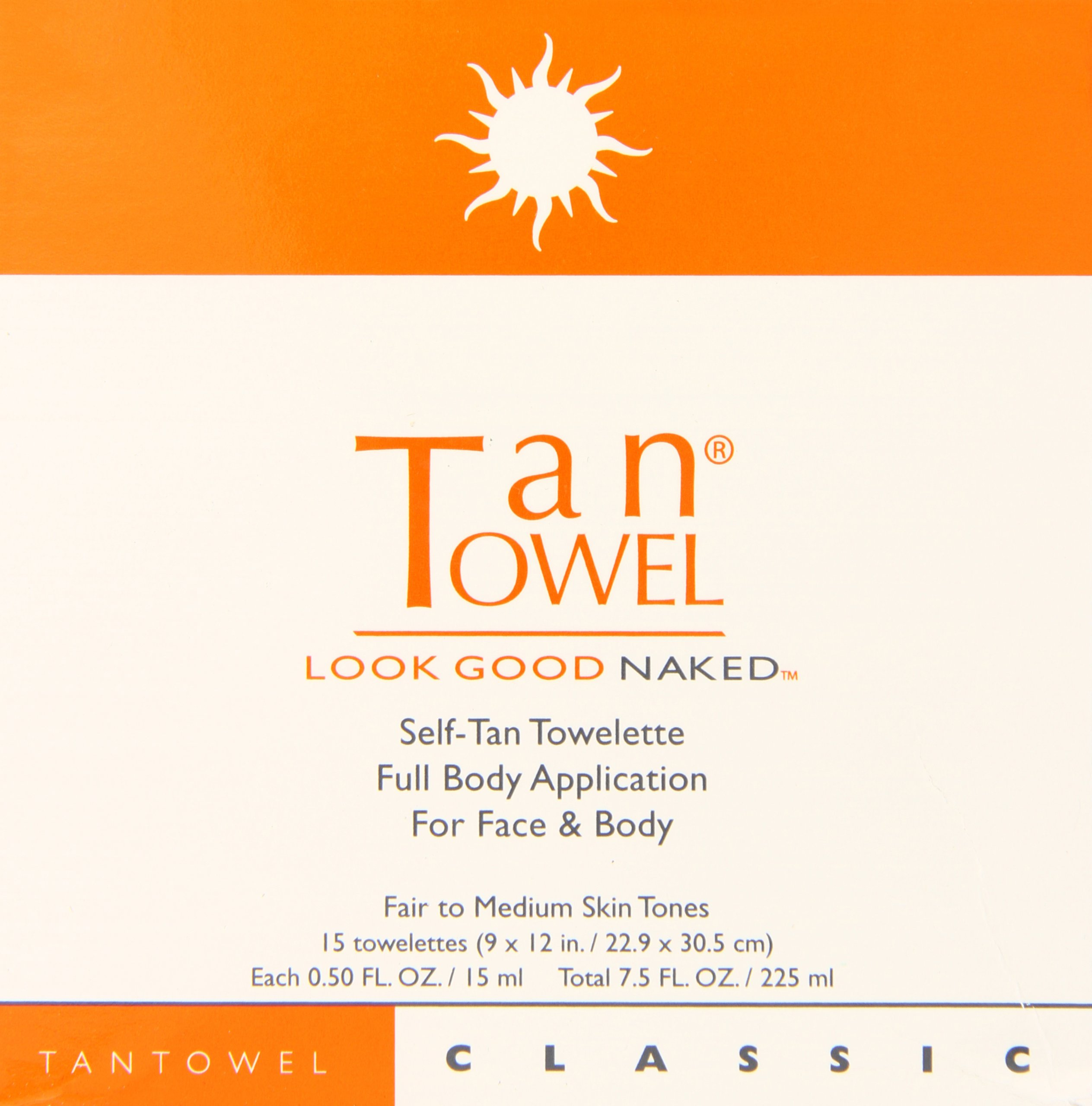Tan Towel Self Tan Towelette Classic 15 Count