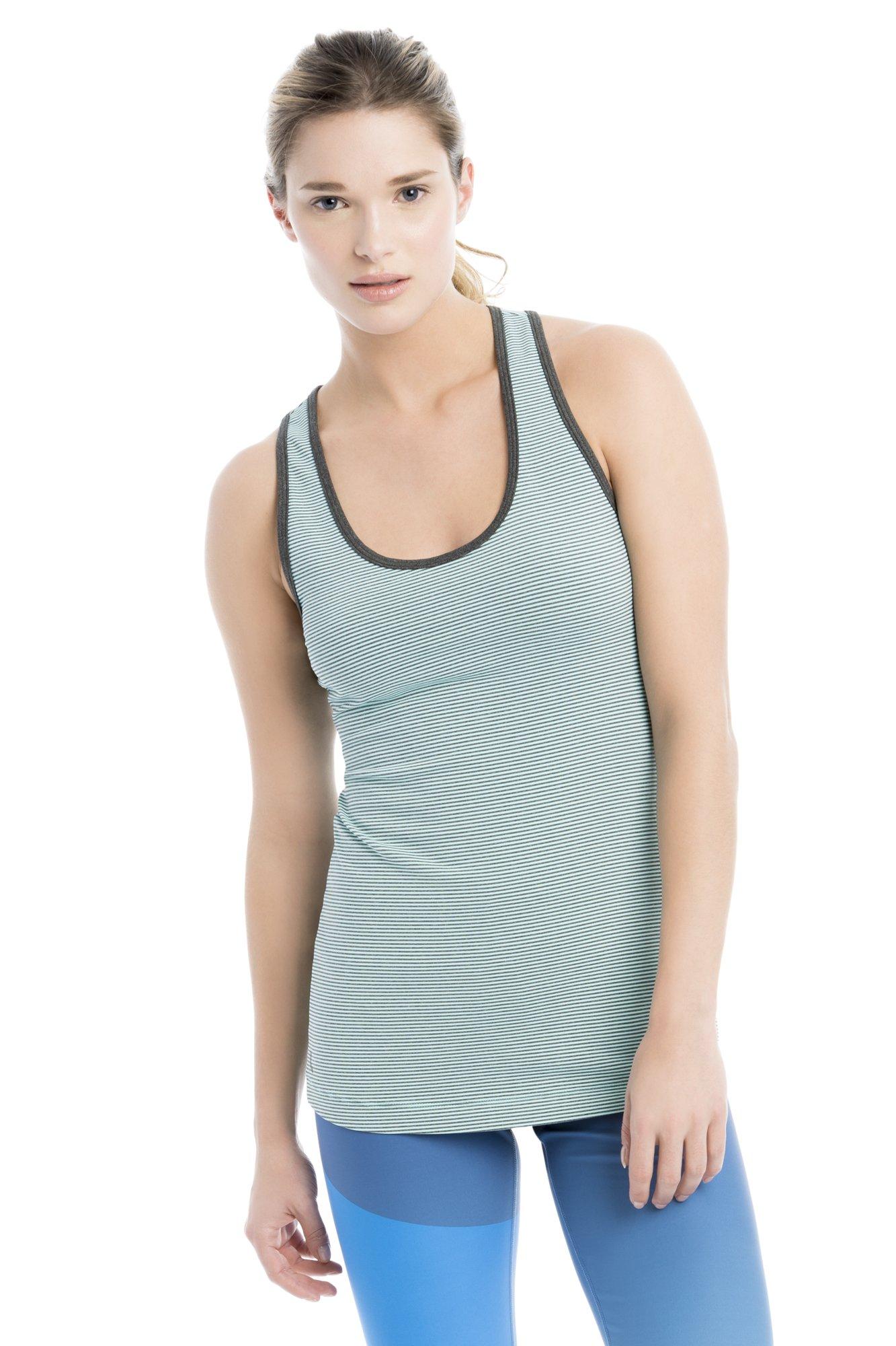 Lole Women's Twist Tank Top, Aruba Blue Stripe, X-Small