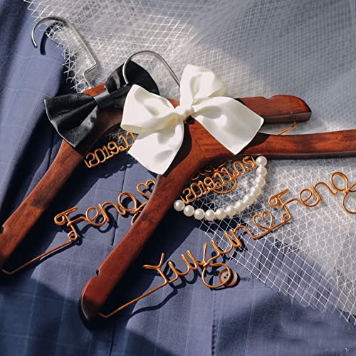 Wedding Shower Gift Bridal Hanger Bridesmaid Gift Wedding Dress Hanger Wedding Hanger Bridal Shower Gift Custom Bride Hanger MG005