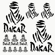Autodomy Pegatinas Dakar Pack de 12 Unidades para Coche o Moto (Negro): Amazon.es: Coche y moto