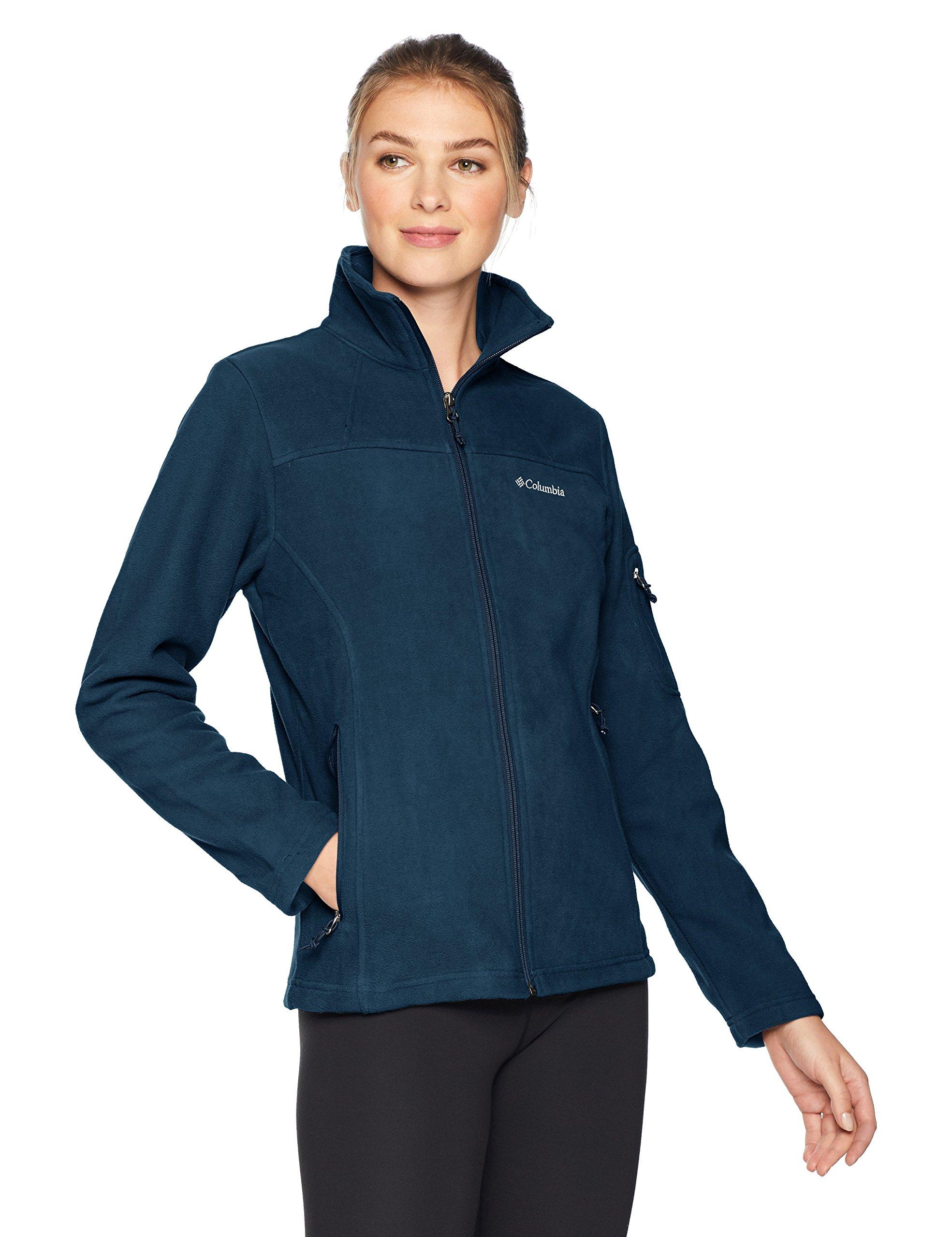 Columbia Women's Fast Trek II Full Zip Fleece Jacket Navy, S
