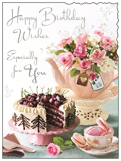 Tarjeta de felicitación (JJ4436) de cumpleaños para mujer ...