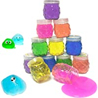 Super Slime Kit 12 Crystal Clear Slimes with Glitter Crazy Pineapple Transparent Colorful Jelly Mud Slime for Girls Boys…