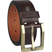 Alfami Mens/Gents / Boys Genuine Original Leather Belt | Formal/Casual | Brown & Tan Colour | 28 to 46 Sizes | 2 Year Warranty